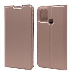 Custodia Portafoglio In Pelle Cover con Supporto L06 per Huawei Honor 9A Oro Rosa