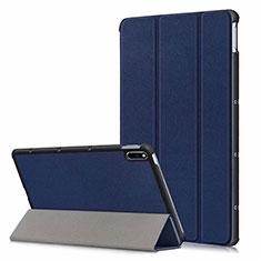 Custodia Portafoglio In Pelle Cover con Supporto L06 per Huawei MatePad 10.4 Blu