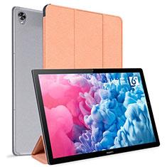 Custodia Portafoglio In Pelle Cover con Supporto L06 per Huawei MatePad 10.8 Arancione