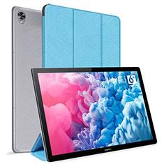 Custodia Portafoglio In Pelle Cover con Supporto L06 per Huawei MatePad 10.8 Cielo Blu