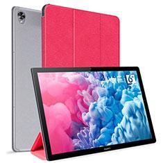 Custodia Portafoglio In Pelle Cover con Supporto L06 per Huawei MatePad 10.8 Rosso