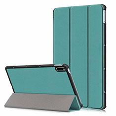 Custodia Portafoglio In Pelle Cover con Supporto L06 per Huawei MatePad 5G 10.4 Verde