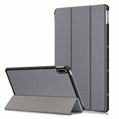 Custodia Portafoglio In Pelle Cover con Supporto L06 per Huawei MatePad Grigio