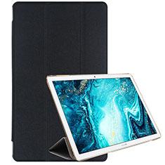 Custodia Portafoglio In Pelle Cover con Supporto L06 per Huawei MediaPad M6 10.8 Nero