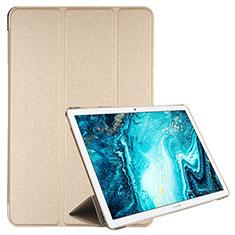 Custodia Portafoglio In Pelle Cover con Supporto L06 per Huawei MediaPad M6 10.8 Oro