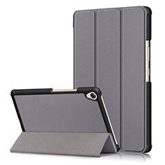 Custodia Portafoglio In Pelle Cover con Supporto L06 per Huawei MediaPad M6 8.4 Grigio