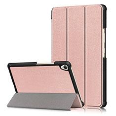Custodia Portafoglio In Pelle Cover con Supporto L06 per Huawei MediaPad M6 8.4 Oro Rosa