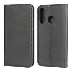 Custodia Portafoglio In Pelle Cover con Supporto L06 per Huawei P30 Lite Nero