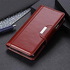 Custodia Portafoglio In Pelle Cover con Supporto L06 per Huawei P40 Lite E Marrone