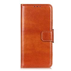 Custodia Portafoglio In Pelle Cover con Supporto L06 per Huawei Y5p Arancione
