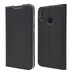 Custodia Portafoglio In Pelle Cover con Supporto L06 per Huawei Y7 Pro (2019) Nero