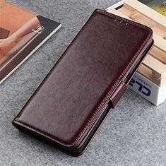 Custodia Portafoglio In Pelle Cover con Supporto L06 per LG K22 Marrone