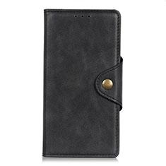 Custodia Portafoglio In Pelle Cover con Supporto L06 per LG K52 Nero
