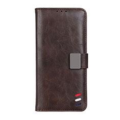 Custodia Portafoglio In Pelle Cover con Supporto L06 per Motorola Moto G 5G Marrone