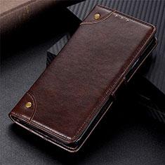 Custodia Portafoglio In Pelle Cover con Supporto L06 per Motorola Moto G9 Plus Marrone