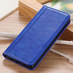 Custodia Portafoglio In Pelle Cover con Supporto L06 per Motorola Moto G9 Power Blu