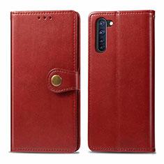 Custodia Portafoglio In Pelle Cover con Supporto L06 per Oppo Reno3 A Rosso