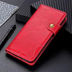 Custodia Portafoglio In Pelle Cover con Supporto L06 per Realme 7 Rosso