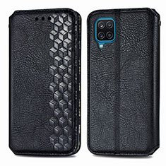 Custodia Portafoglio In Pelle Cover con Supporto L06 per Samsung Galaxy A12 Nero