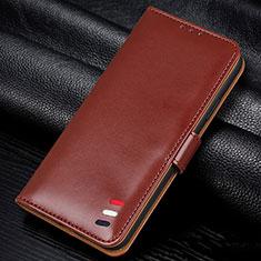 Custodia Portafoglio In Pelle Cover con Supporto L06 per Samsung Galaxy A41 Marrone