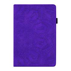 Custodia Portafoglio In Pelle Cover con Supporto L06 per Samsung Galaxy Tab S6 Lite 4G 10.4 SM-P615 Viola