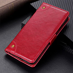 Custodia Portafoglio In Pelle Cover con Supporto L06 per Sony Xperia 5 II Rosso
