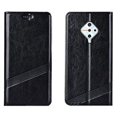 Custodia Portafoglio In Pelle Cover con Supporto L06 per Vivo X50 Lite Nero