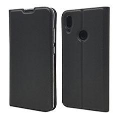 Custodia Portafoglio In Pelle Cover con Supporto L06 per Xiaomi Redmi Note 7 Nero