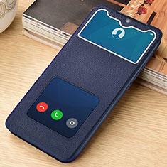 Custodia Portafoglio In Pelle Cover con Supporto L06 per Xiaomi Redmi Note 8 Pro Blu