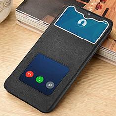 Custodia Portafoglio In Pelle Cover con Supporto L06 per Xiaomi Redmi Note 8 Pro Nero