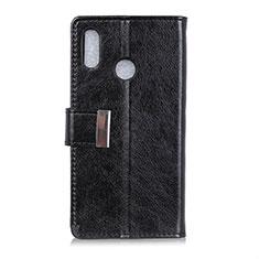 Custodia Portafoglio In Pelle Cover con Supporto L07 per Asus Zenfone 5 ZE620KL Nero