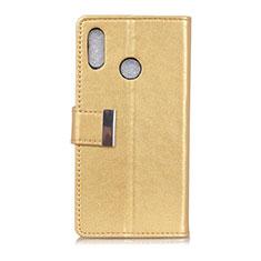 Custodia Portafoglio In Pelle Cover con Supporto L07 per Asus Zenfone 5 ZS620KL Oro