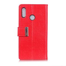 Custodia Portafoglio In Pelle Cover con Supporto L07 per Asus Zenfone 5 ZS620KL Rosso
