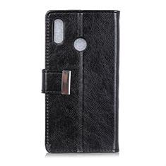 Custodia Portafoglio In Pelle Cover con Supporto L07 per Asus Zenfone Max ZB555KL Nero