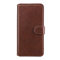 Custodia Portafoglio In Pelle Cover con Supporto L07 per Huawei Honor 9A Marrone