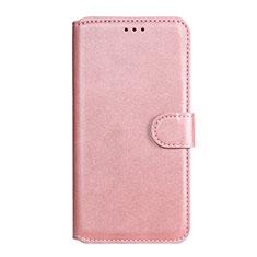 Custodia Portafoglio In Pelle Cover con Supporto L07 per Huawei Honor 9A Oro Rosa