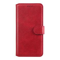 Custodia Portafoglio In Pelle Cover con Supporto L07 per Huawei Honor 9A Rosso