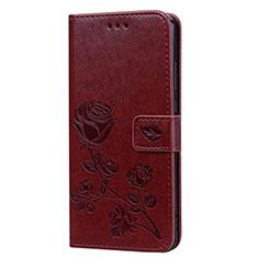 Custodia Portafoglio In Pelle Cover con Supporto L07 per Huawei Honor View 10 Lite Marrone