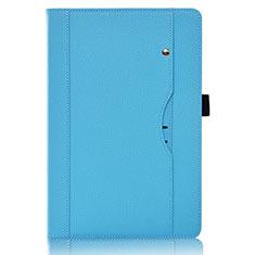 Custodia Portafoglio In Pelle Cover con Supporto L07 per Huawei MediaPad M6 8.4 Cielo Blu