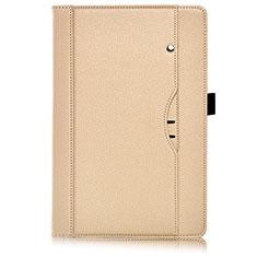 Custodia Portafoglio In Pelle Cover con Supporto L07 per Huawei MediaPad M6 8.4 Oro