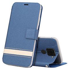 Custodia Portafoglio In Pelle Cover con Supporto L07 per Huawei Nova 5i Pro Blu