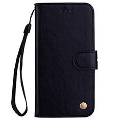 Custodia Portafoglio In Pelle Cover con Supporto L07 per Huawei P20 Lite Nero