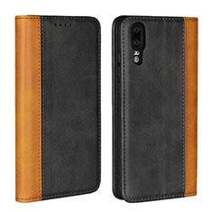 Custodia Portafoglio In Pelle Cover con Supporto L07 per Huawei P20 Nero
