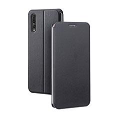 Custodia Portafoglio In Pelle Cover con Supporto L07 per Huawei P20 Pro Nero