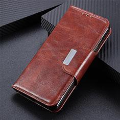 Custodia Portafoglio In Pelle Cover con Supporto L07 per Huawei Y5p Marrone