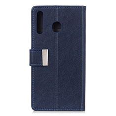 Custodia Portafoglio In Pelle Cover con Supporto L07 per Huawei Y6p Blu