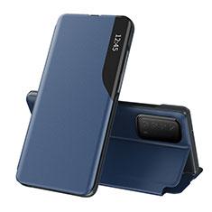 Custodia Portafoglio In Pelle Cover con Supporto L07 per Huawei Y7a Blu
