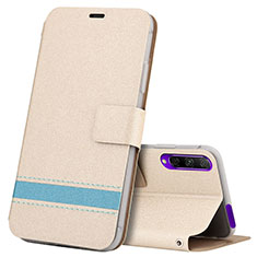 Custodia Portafoglio In Pelle Cover con Supporto L07 per Huawei Y9s Oro