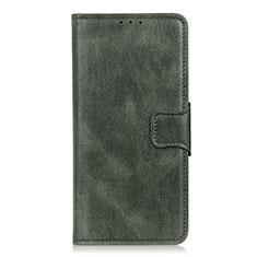 Custodia Portafoglio In Pelle Cover con Supporto L07 per LG K22 Verde