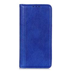 Custodia Portafoglio In Pelle Cover con Supporto L07 per LG Q52 Blu